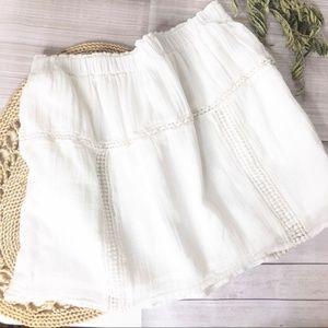 Madewell Skirt White Eyelet Lace Skater Skirt